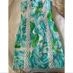 """Lilly Pulitzer """"Tansy"""" Floral Strapless Dress, 00"""